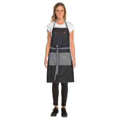 400×400 MANHATTAN BLACK DENIM BIB APRON Brie Corporate 1